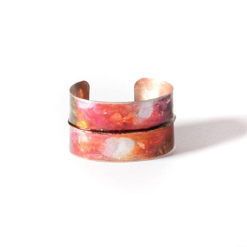 Bracelet - casual copper cuff bracelet by Tinklet jewelry