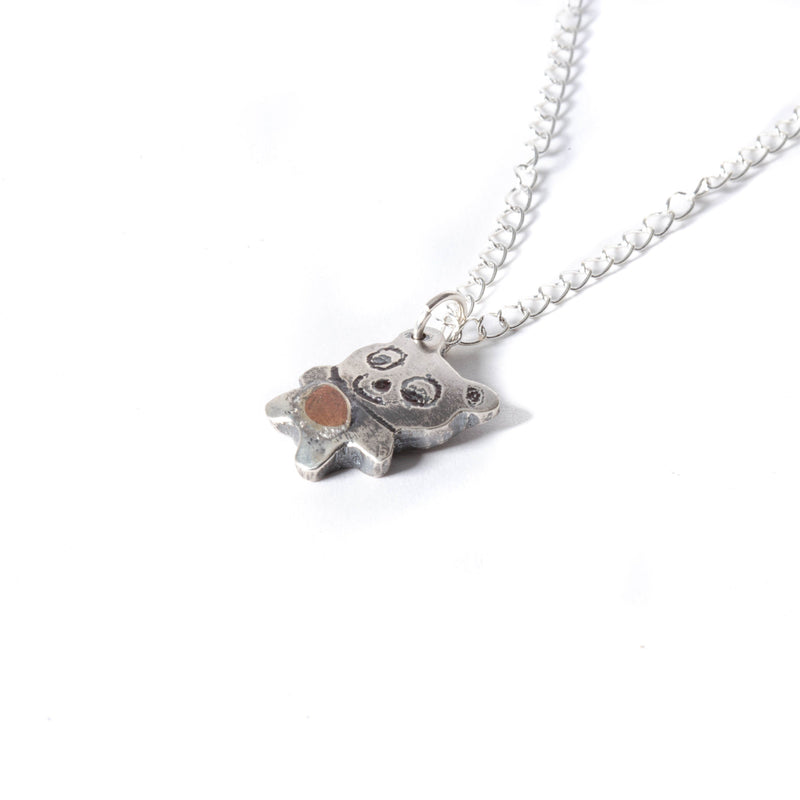 Sterling Silver Teddy Bear Charm Pendant | Necklace | Tinklet Jewelry