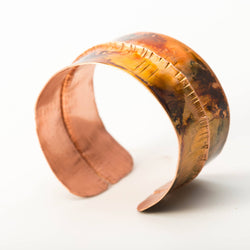Bracelet - Alcohol Inked Copper Cuff – Hand Painted | Tinklet Jewelry
