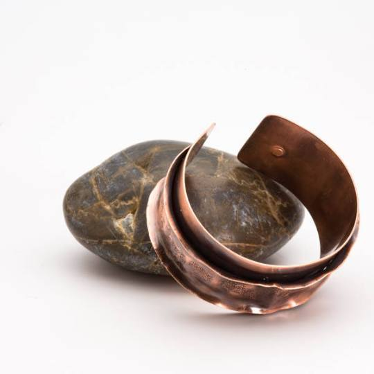 Antiqued Copper Cuff – Ruffled Bracelet | Tinklet Jewelry Bracelet Tinklet