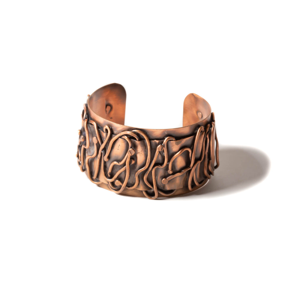 Wide Copper Wire Antiqued Cuff | Tinklet Jewelry Bracelet Tinklet
