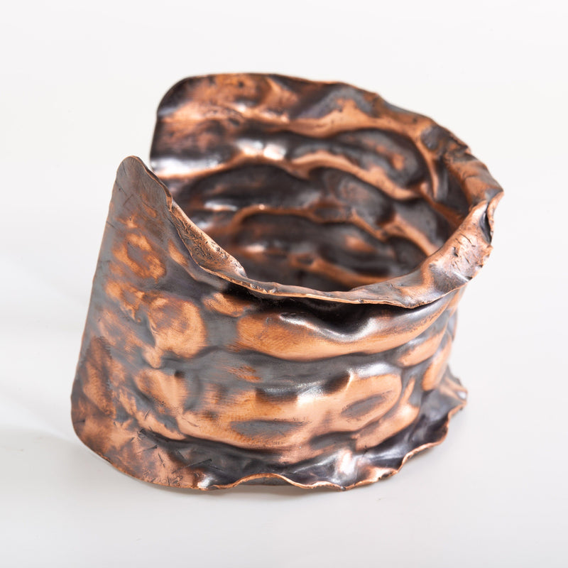 Bracelet - Blue Or Antiqued Copper Air Chased Cuff – Bracelet | Tinklet Jewelry