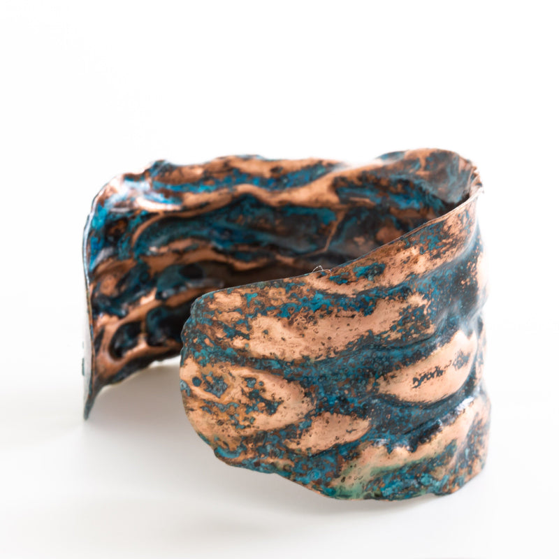 adjustable air chased copper cuff