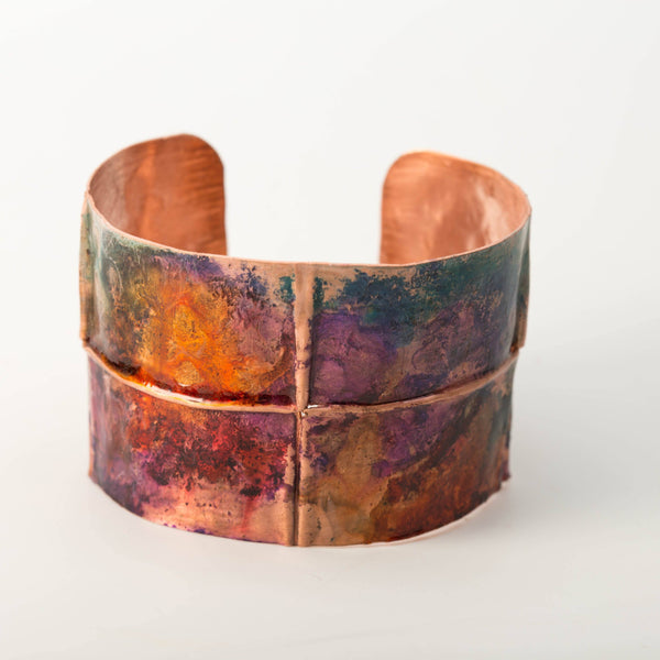 Bracelet - Colorful Copper Rustic Cuff – Jewel Tone | Tinklet Jewelry
