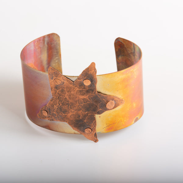 Bracelet - Hammered Copper Star Cuff – Bracelet | Tinklet Jewelry