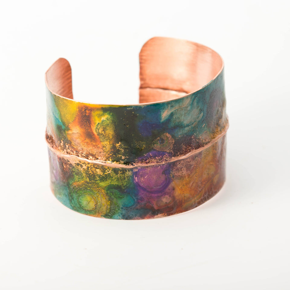 Inked Copper Metal Cuff– Modern Boho | Tinklet Jewelry Bracelet Tinklet