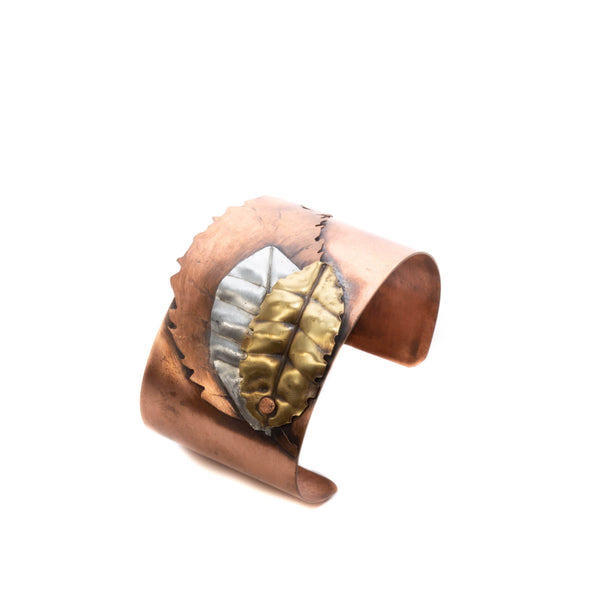 mixed metal copper cuff