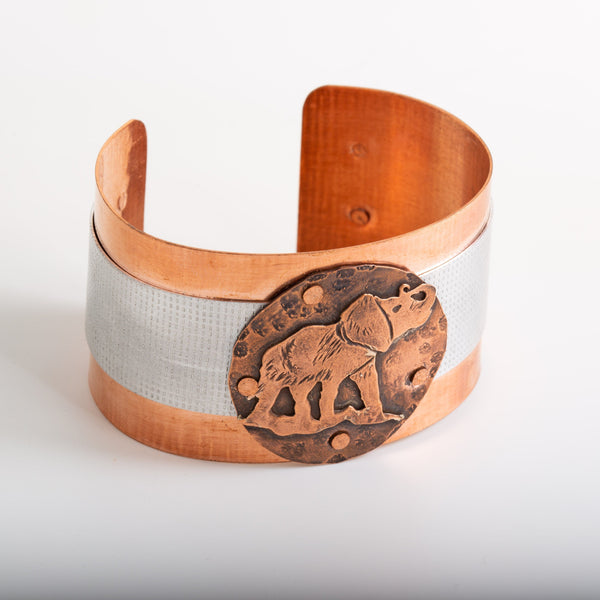 Bracelet - Riveted Copper Elephant Cuff - Bracelet | Tinklet Jewelry