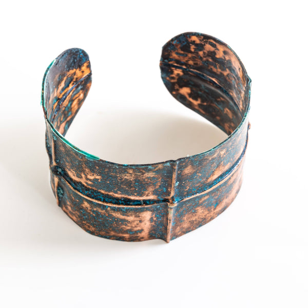 Rustic Blue Copper Cuff