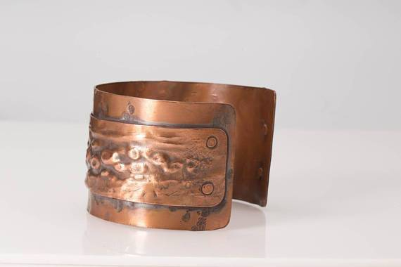 Rustic Copper Cuff – Hammered Design | Tinklet Jewelry Bracelet Tinklet