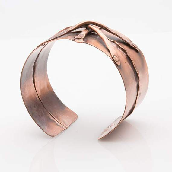 Rustic Copper Handmade Cuff – Riveted Design | Tinklet Jewelry Bracelet Tinklet