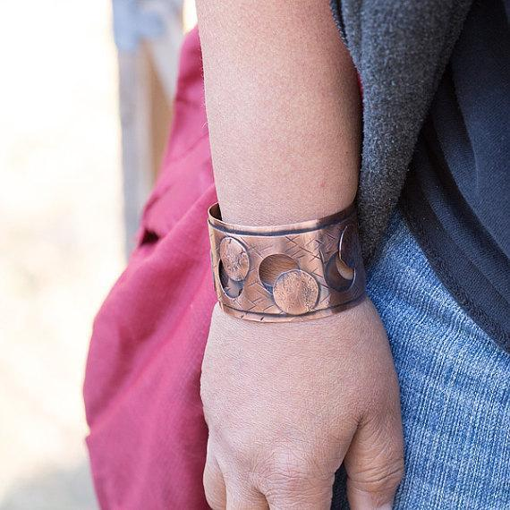 Textured Copper Cuff – Negative Space | Tinklet Jewelry Bracelet Tinklet