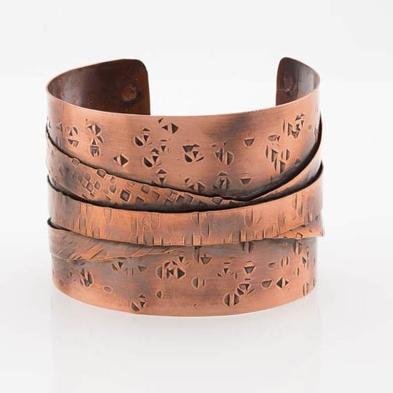 Tribal Copper Statement Cuff – Ethnic Style | Tinklet Jewelry Bracelet Tinklet
