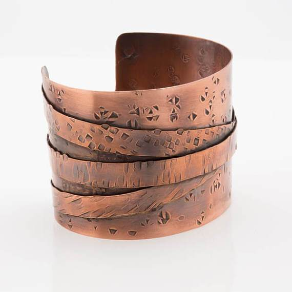 Tribal Copper Statement Cuff