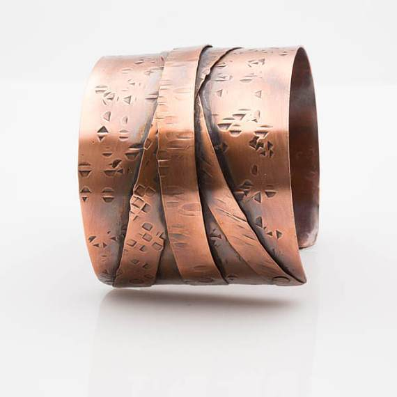 Copper Statement Cuff  | Tinklet Jewelry