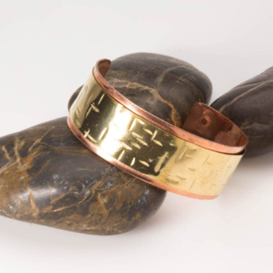 Mixed Metal Bracelet - Brass and Copper | Tinklet Jewelry Bracelet Tinklet