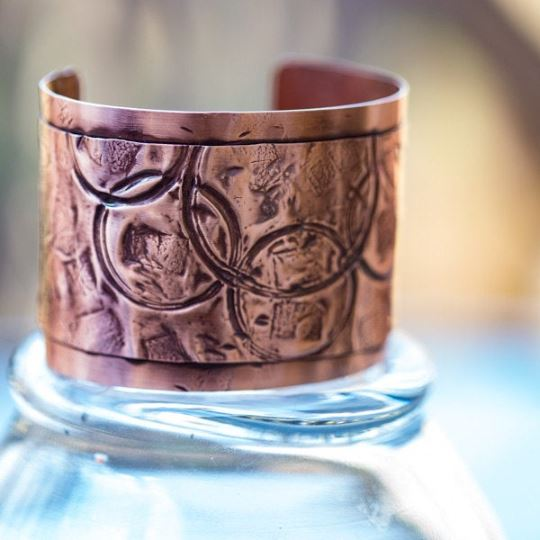 Boho Style Wide Copper Cuff | Tinklet Jewelry Bracelet Tinklet