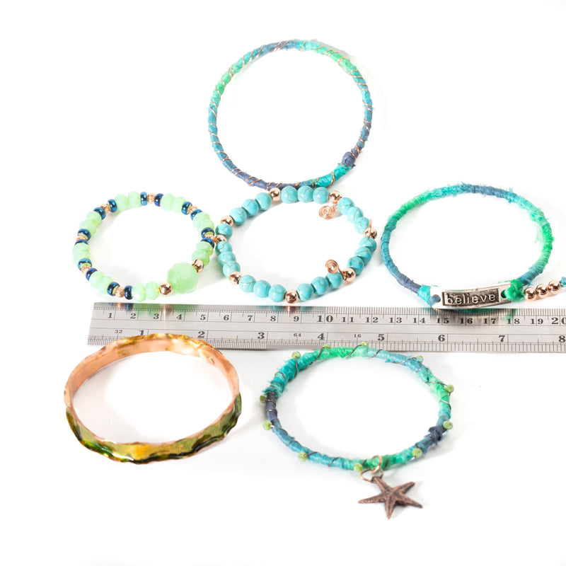 Mix and match urban chic stacking bracelets