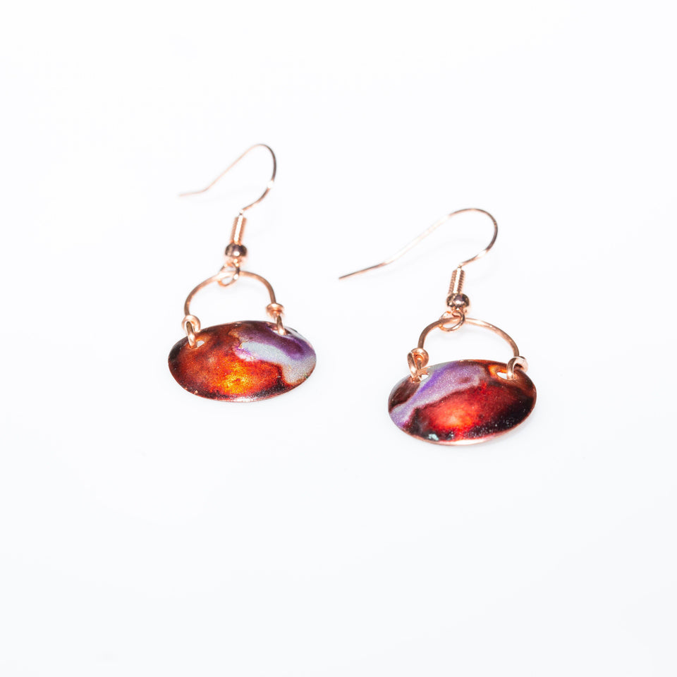 Earring - Casual Colorful Small Copper Earrings – Dangles | Tinklet Jewelry