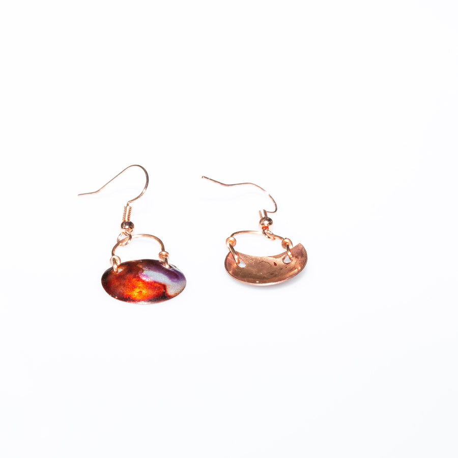 Inked Copper Small Earrings | Tinklet Jewelry Earring Tinklet