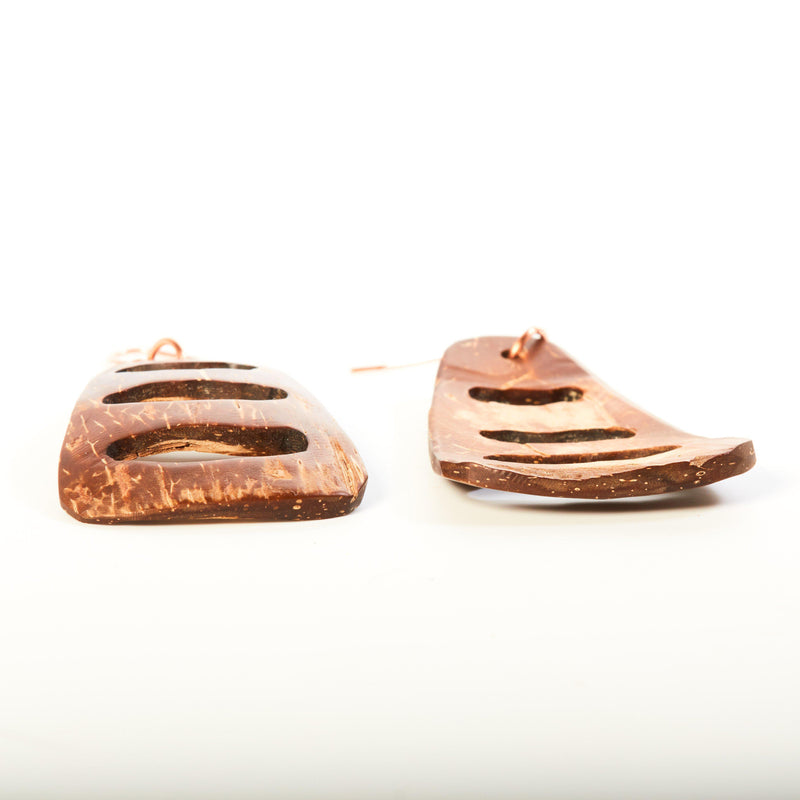 Earring - Coconut Shell Earrings | Dangles | Tinklet Jewelry