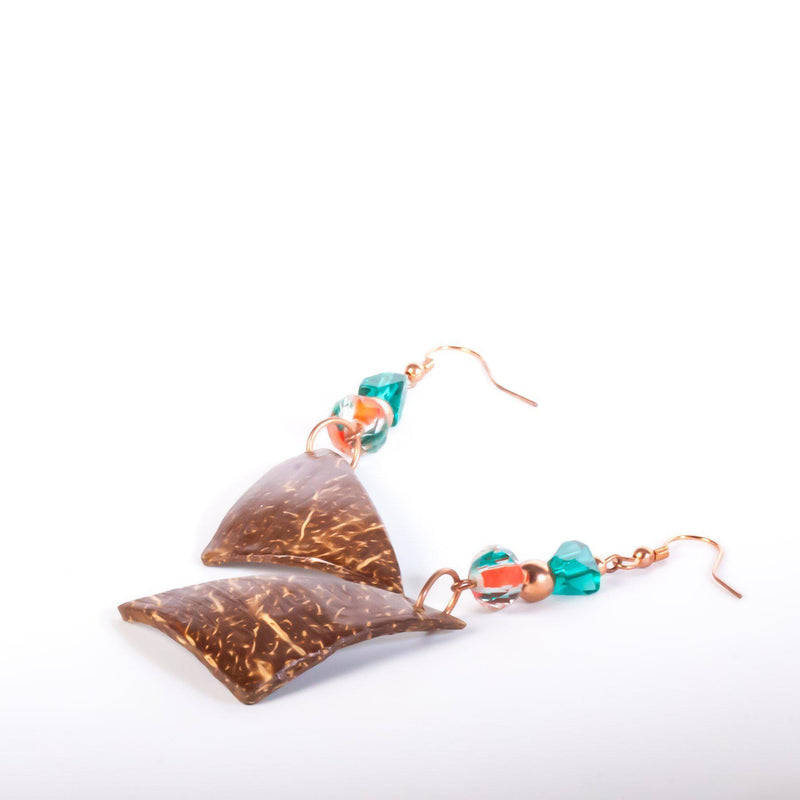 Earring - Coconut Shell Jewelry | Dangle Earrings | Tinklet Jewelry