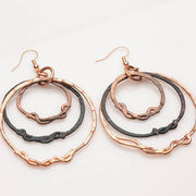 Rustic Tribal Copper Hoops – Earrings | Tinklet Jewelry Earring Tinklet