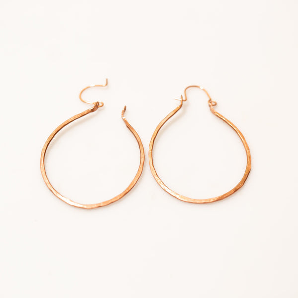 Earring - Simple Classic Copper Hoops – Earrings | Tinklet Jewelry