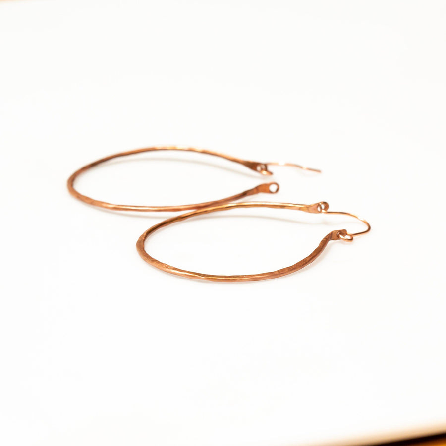Simple Classic Copper Hoops – Earrings | Tinklet Jewelry Earring Tinklet