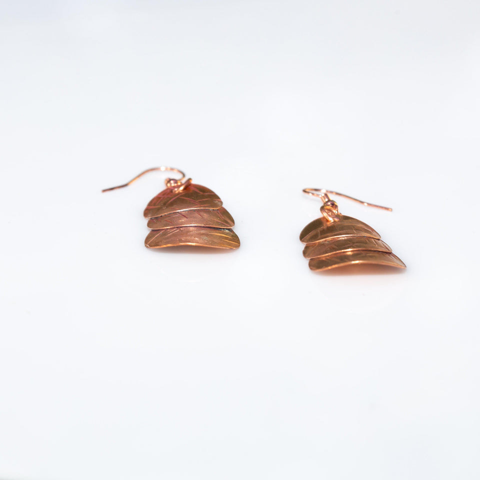 Simple Copper Earrings, Work or Play Textured Copper Earrings, Casual Everyday Earrings Earring Tinklet