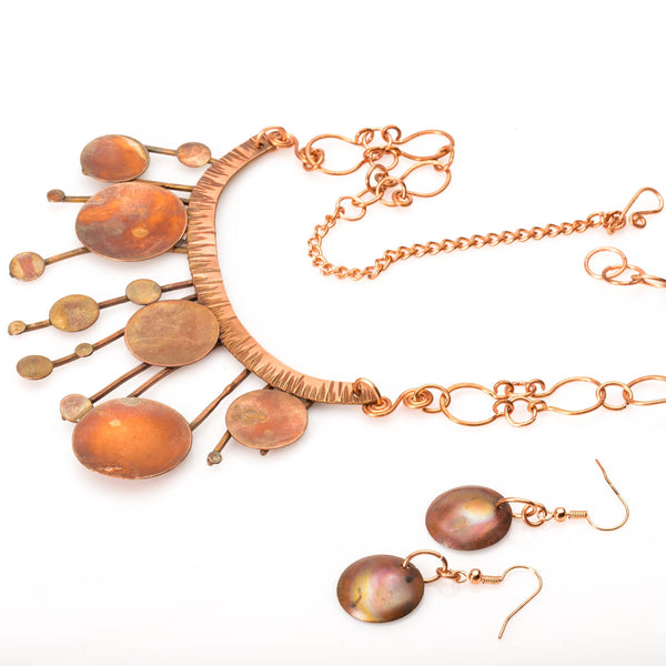 JEWELRY SET - Copper Statement Necklace – Neutral Jewelry Set | Tinklet Jewelry