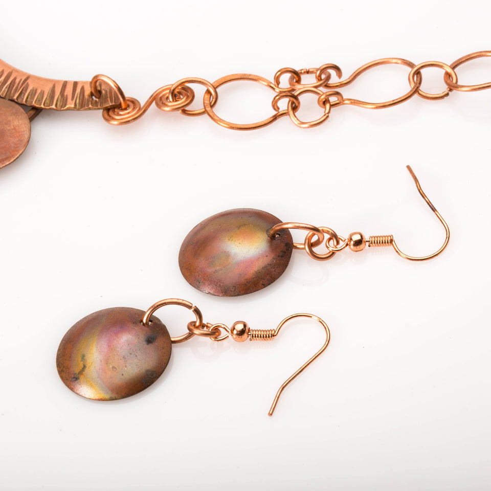 Copper Statement Necklace – Neutral Jewelry Set | Tinklet Jewelry JEWELRY SET Tinklet