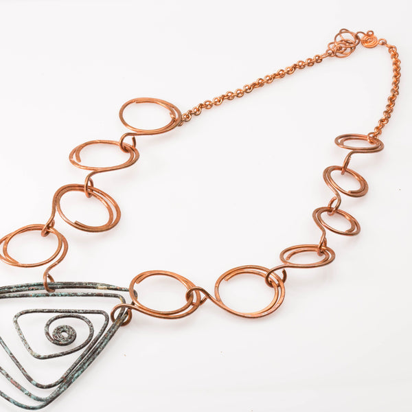 JEWELRY SET - Geometric Copper Necklace – Jewelry Set | Tinklet Jewelry