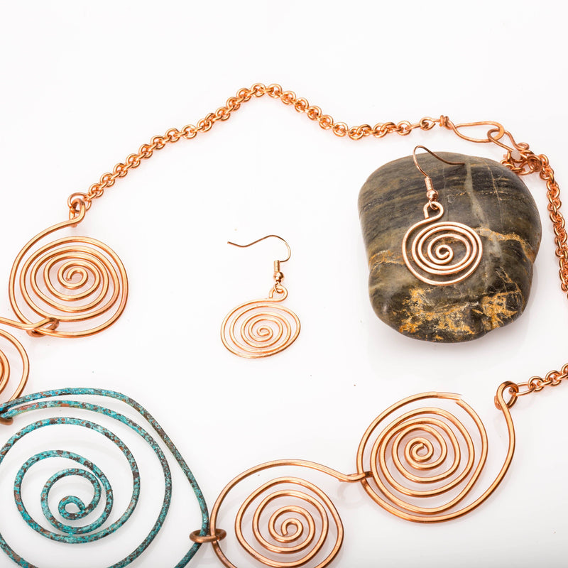 Artisan quality copper fashion jewelry handmade in Atlanta