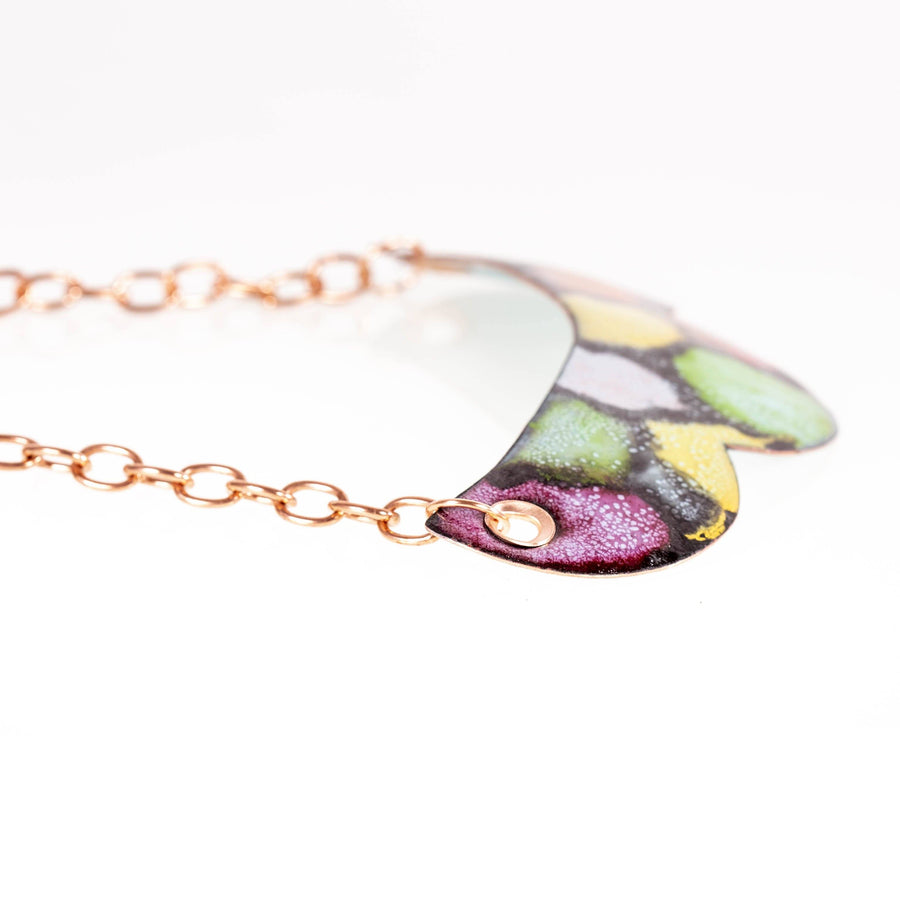 Colorful Abstract Enamel Copper Bib Necklace | Tinklet Jewelry necklace/pendant Tinklet Jewelry