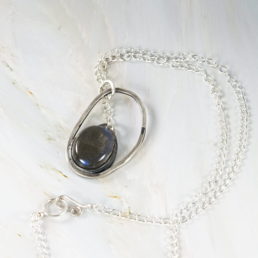 Labradorite Stone Silver Pendant | Tinklet Jewelry necklace/pendant Tinklet