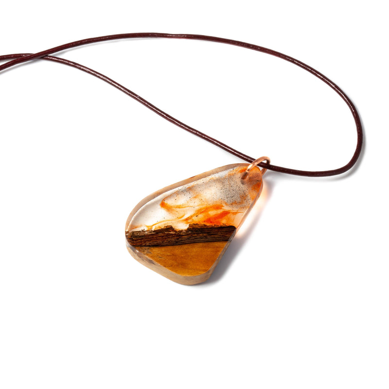 Necklace/pendant - Clear Resin And Wood Pendant | Necklaces | Tinklet Jewelry