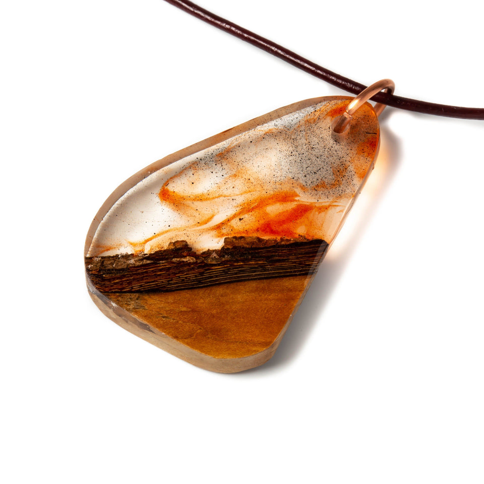 Clear Resin and Wood Pendant | Necklaces | Tinklet Jewelry necklace/pendant Tinklet