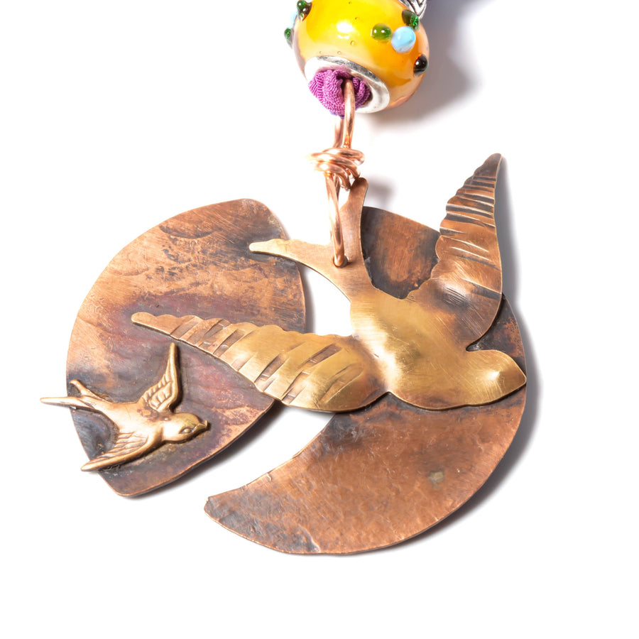 Soaring Swallow Copper Pendant Necklace| Tinklet Jewelry necklace/pendant Tinklet