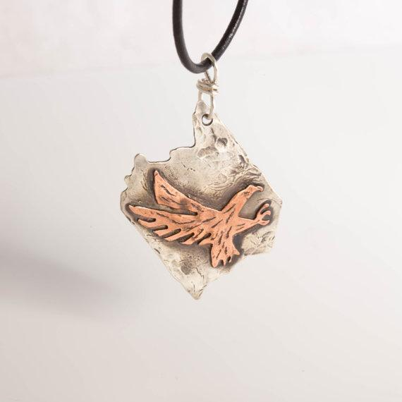 Necklace/pendant - National Flying Eagle Silver And Copper Americana Jewelry | Tinklet Jewelry