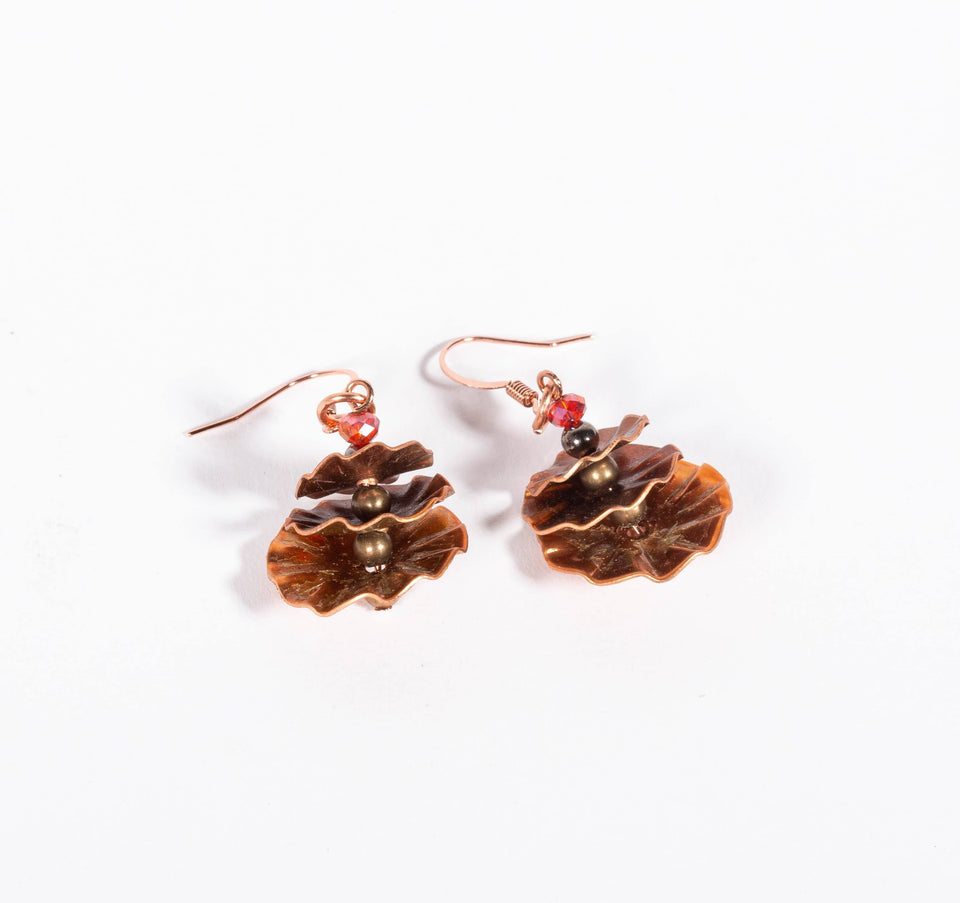 Stacked Copper Disc Earrings | Tinklet Jewelry