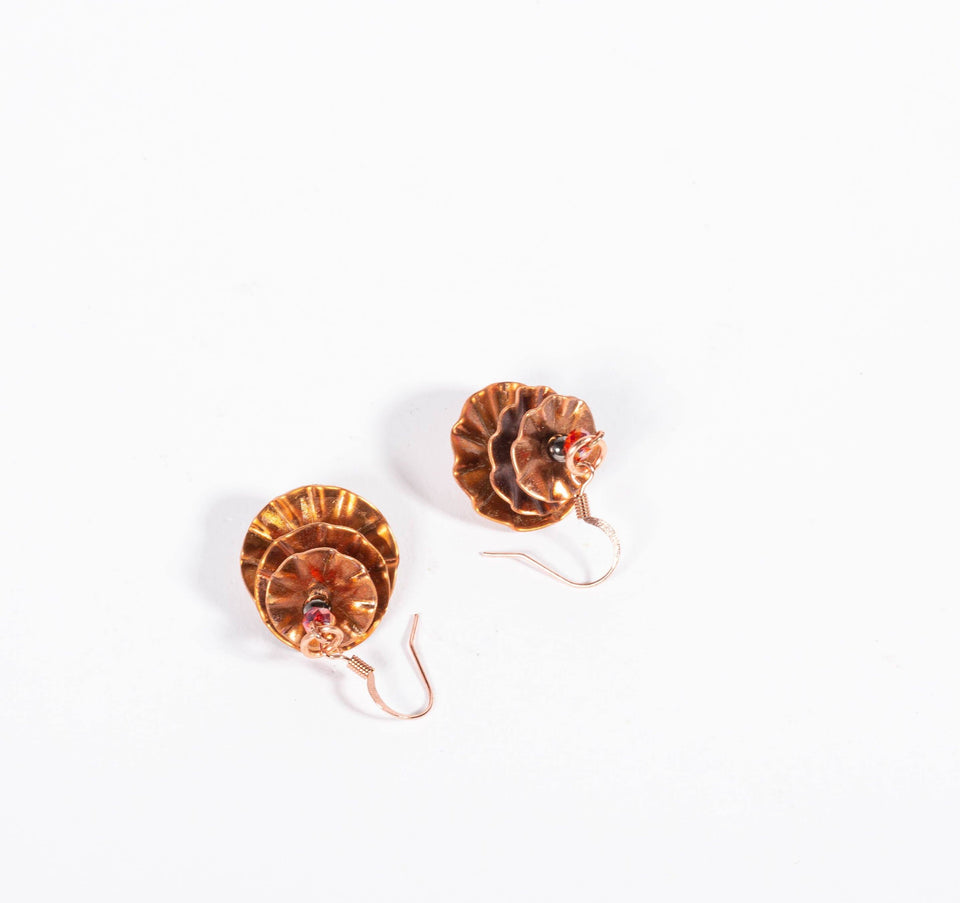 Stacked Copper Disc Earrings | Tinklet Jewelry Earring Tinklet