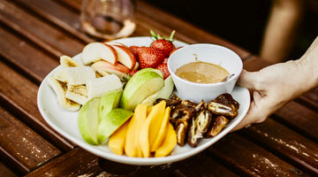 Fresh Fruit Plate with Classic Creamy Peanut Butter