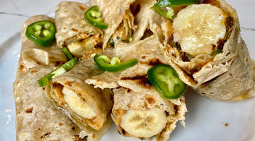 Spicy Pean-anna Wrap With Salty Peanut Butter