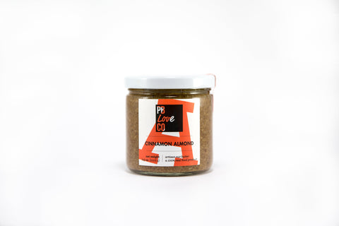 Cinnamon Almond butter made by The PB Love Company. Handcrafted in Denver, Colorado.