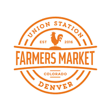 Boulder County Farmers Market Logo. Based in Boulder, Colorado. This market is in Denver at Union Station.