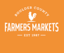 Boulder County Farmers Market logo. Based in Boulder, Colorado.
