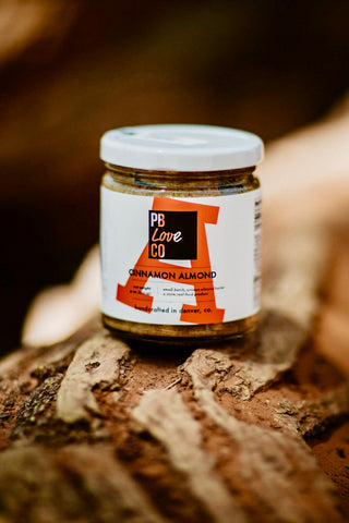 Cinnamon almond butter made by The PB Love Company in Denver, Colorado.