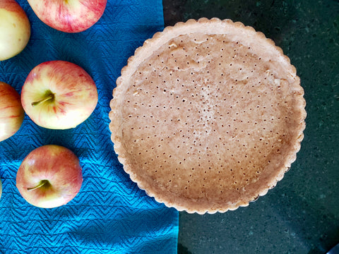 Fresh apple tart made with Cinnamon Almond butter from The PB Love Company. Nutritious and delicious!