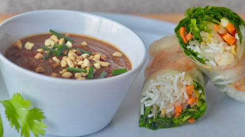 Spicy Thai Peanut Sauce with Classic Creamy Peanut Butter - all natural peanut butter recipe for Thai Peanut Sauce.